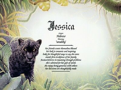 """Black Panther"" Name Meaning Print Personalized (Animals)"