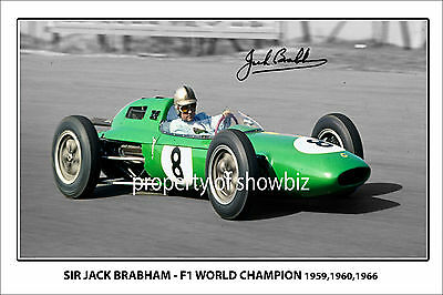 SIR JACK BRABHAM One Million Dollar Novelty Note Matted Memorabilia