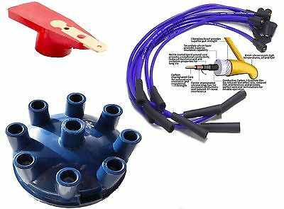 Rover 3.9 3.5 V8 Blue Distributor Cap & Red Rotor Arm & Blue 8mm HT Lead