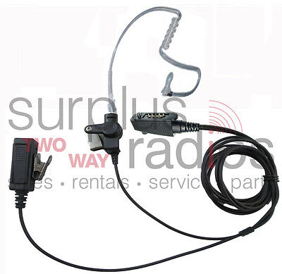 2 Wire Surveillance Headset For Icom Radios F4161T F4161Ds F50 F60 F70 F80Dt