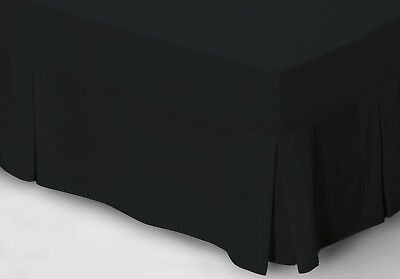 1000TC Pure Egyptian Cotton Valance in Black - Queen Size