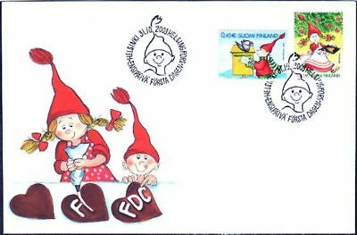 Christmas Children Gingerbread Work Finland FDC 2003