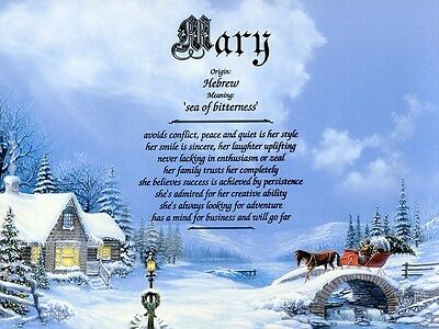 """""""Country Chrsitmas"""" Name Meaning Prints Personalized"""