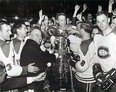 Montreal Canadiens - 1965-66 Stanley Cup Presentation, 8x10 B&W Photo