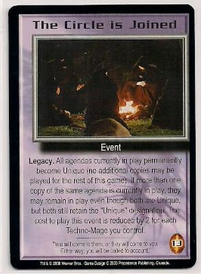 Babylon 5 CCG Crusade RARE The Circle is Joined EX
