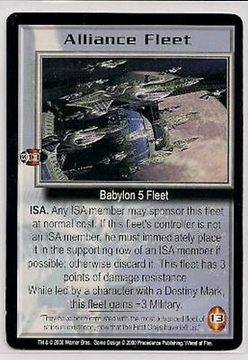 Babylon 5 CCG Wheel of Fire RARE Alliance Fleet NM