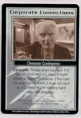 Babylon 5 CCG Wheel of Fire RARE Corporate Connections NM