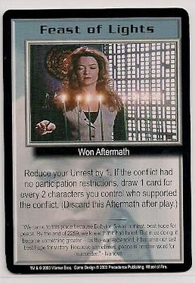 Babylon 5 CCG Wheel of Fire RARE Feast of Lights NM