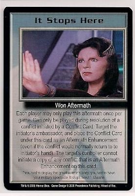 Babylon 5 CCG Wheel of Fire RARE It Stops Here NM