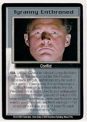 Babylon 5 CCG Wheel of Fire RARE Tyranny Enthroned NM