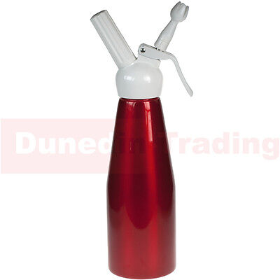 1L Whipped Cream Dispenser  - Nitrous Oxide Whipper NOS N2O - Uses 8g Chargers
