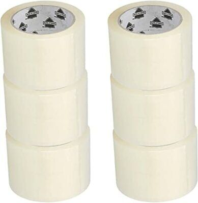 """Carton Sealing Packing Tape 3"""" x 110 Yards (330 ft) 2.5 Mil Clear 12 Rolls"""