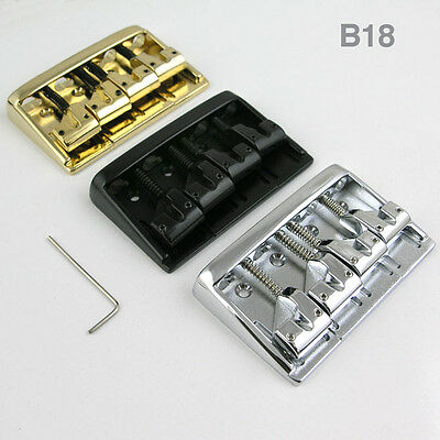 4 string hard tail fixed bass guitar bridge B18