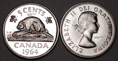 Canada 1964 5 cents Nice PL Five Cents Canadian Nickel