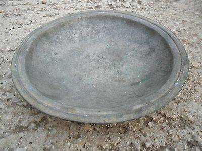 Vintage Antique Authentic  Islam Holy Land Arabic Tin Bronze Large Bowl Plate