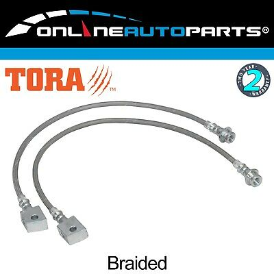 Extended Stainless Braided Brake Lines fit Patrol GQ Y60 GR GU Y61 Lift Kit Hose