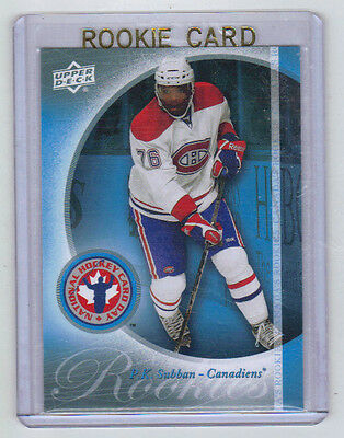 10-11 Upper Deck UD PK P.K. Subban Rookie Card RC #HCD5 Mint