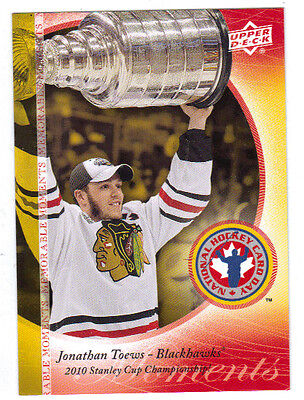 10-11 Upper Deck UD Jonathan Toews National Hockey Card Day Bonus Card #HCDJT
