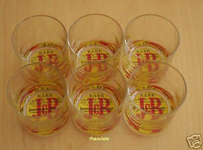 6 verres Glasses J&B JB J B Whisky NEW