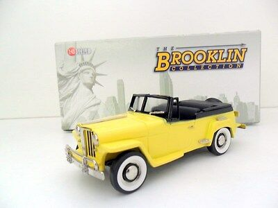 BROOKLIN 1/43 BRK161A 1948 WILLYS JEEPSTER YELLOW BLACK