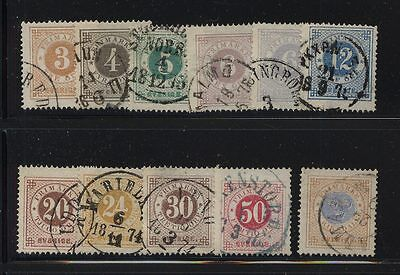 Sweden 17-27 used nice cancels perf 14 type   catalog  $442.00      L1227