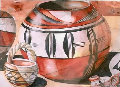 "Blank Notecard - ""UNTITLED"" NATIVE AMERICAN POTS (B) - by Rebecca Kennedy!"