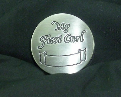 My First Curl Pewter Keepsake Christening / New Baby / Shower Gift Boy or Girl