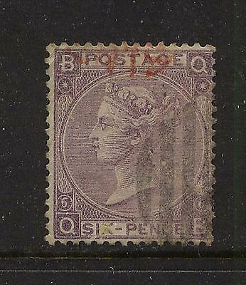 Great Britain  45  plate 6  used     catalog  $160.00    L1228-01