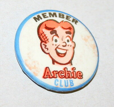 The Member Archie Club Collectors Button Pin Comics 1960s neat