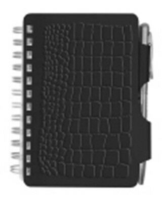 Wellspring Croc Collection Black Address Book New