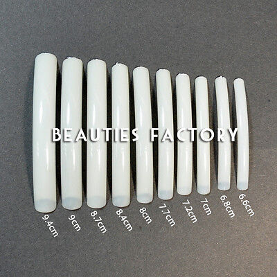 100 WHITE LONG FALSE NAIL TIPS SALON TIP NAILS L03Nails