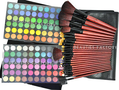 120 Color Eyeshadow(#1) 24 Makeup Brushes #258