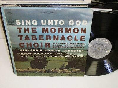 THE MORMON TABERNACLE CHOIR Sing Unto God LP Columbia MS 6908 Condie Stereo