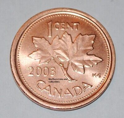 2003 Old Effigy No Mint Mark 1 Cent Canada Zinc Nice Uncirculated Canadian Penny