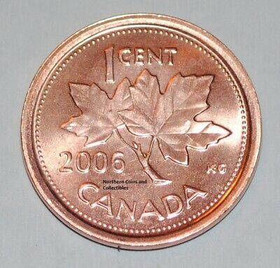 2006 No Mint Mark 1 Cent Canada Zinc Nice Uncirculated Canadian Penny Non Mag