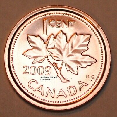 2009 1 Cent Canada Steel Nice Uncirculated Canadian Penny Magnetic