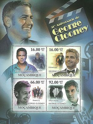 Mozambique 2011 Stamp, MOZ11226A 50 ANN of George Clooney, Actor, Star