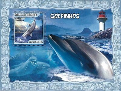 Mozambique 2007 Stamp, MOZ7116B Dolphin, Fish, Marine Life, Lighthouse Place S/S
