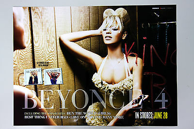 BEYONCE - 4th Album (Official Unfold Poster) - Both Sides Poster