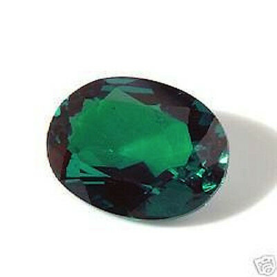 AAA Rated Oval Bright Green Hydrothermal Lab Created Emerald (6x4mm to 16x12mm)