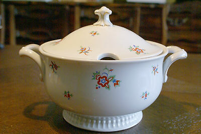 Bavaria Jaeger & Co Porcelain Soup Tureen PMR Serving Dish Piece Plate Germany &