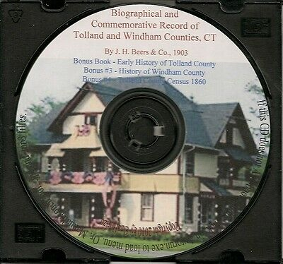 Tolland County Connecticut History and Genealogy + Bonus Books