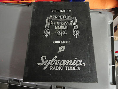 Perpetual Trouble Shooters Manual, Volume IV , John F. Rider, Free Ship