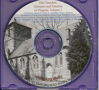 Old Families and Churches of Va Vol. 1 - Genealogy