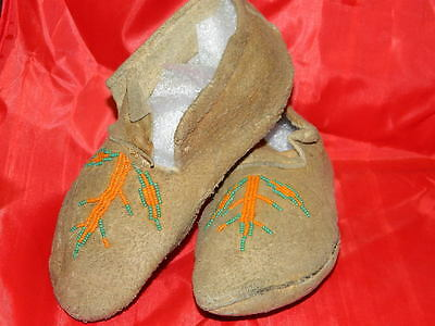 Vintage Native American Beaded Moccasins