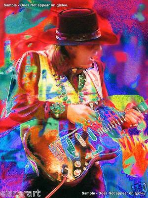 STEVIE RAY VAUGHAN - Large 20 x 15 Signed & Numbered Giclee - ART PRINT- Eisner