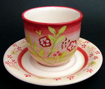 Churchill China Discontinued Berries Pattern 200ml Tea Cups & Saucers - in VGC
