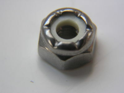 """3/16"""" 10-24 Unc Nyloc Nuts A2 Stainless Steel X 10"""