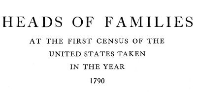 Heads of Families Complete 1790 First US Census Genealogy Family Tree - C577