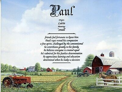 """Farm"" Name Meaning Print Personalized (Nature Landscape Agriculture)"